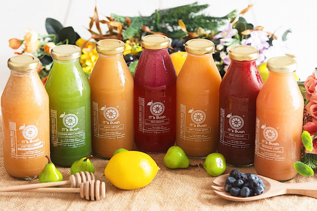 cold-pressed juice IT's Buah